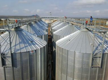 10 Flat Bottom Silo in Mozambique
