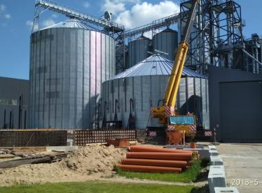 2 Flat Bottom Silos (will be 10) in Kaliningrad, (Russia)